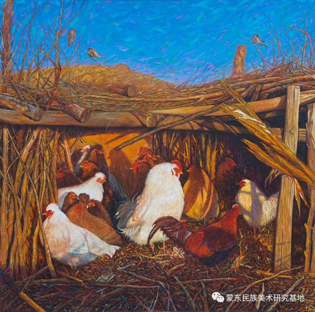 科尔沁首届油画展作品集 第40张 科尔沁首届油画展作品集 蒙古画廊