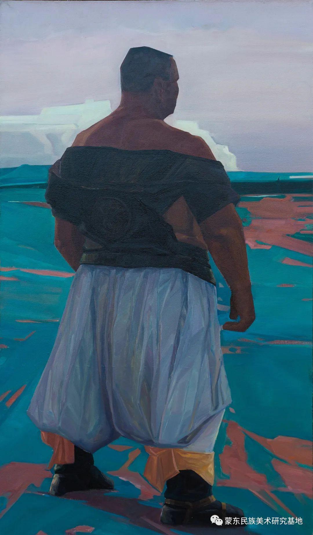科尔沁首届油画展作品集 第41张 科尔沁首届油画展作品集 蒙古画廊