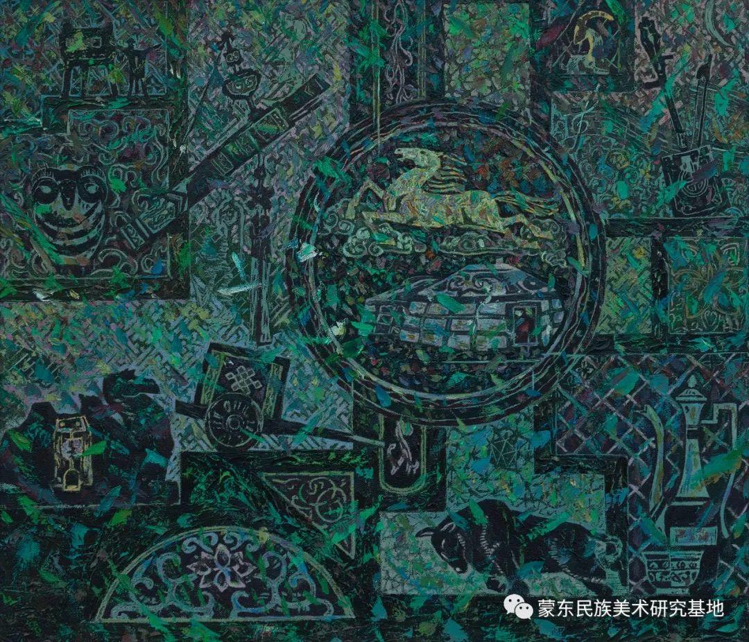 科尔沁首届油画展作品集 第44张 科尔沁首届油画展作品集 蒙古画廊