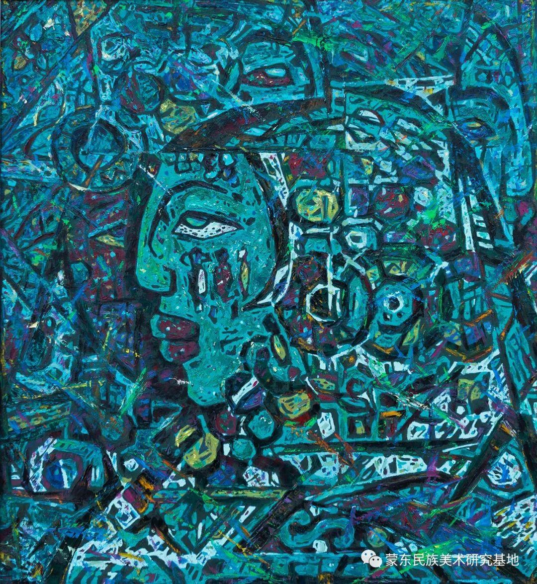 科尔沁首届油画展作品集 第45张 科尔沁首届油画展作品集 蒙古画廊