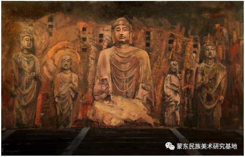 科尔沁首届油画展作品集 第46张 科尔沁首届油画展作品集 蒙古画廊