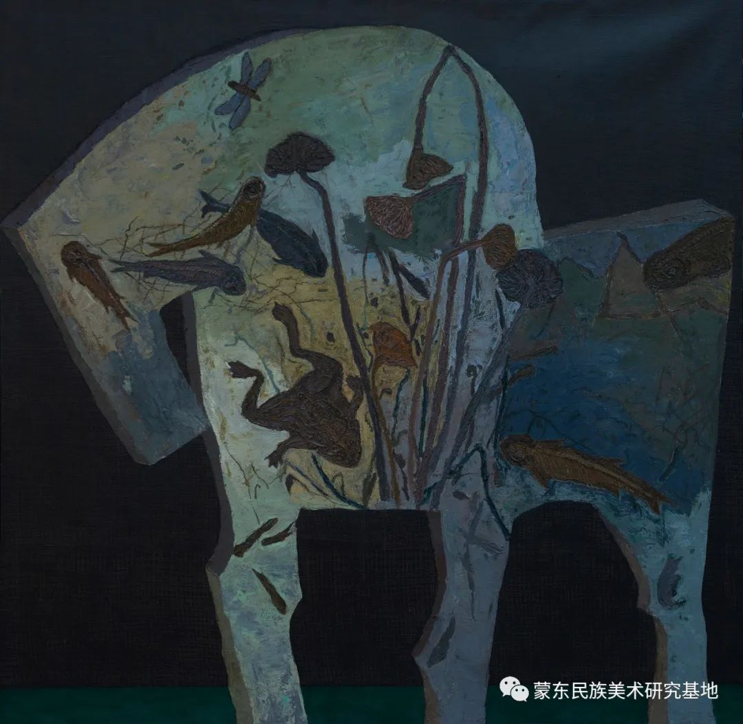 科尔沁首届油画展作品集 第49张 科尔沁首届油画展作品集 蒙古画廊