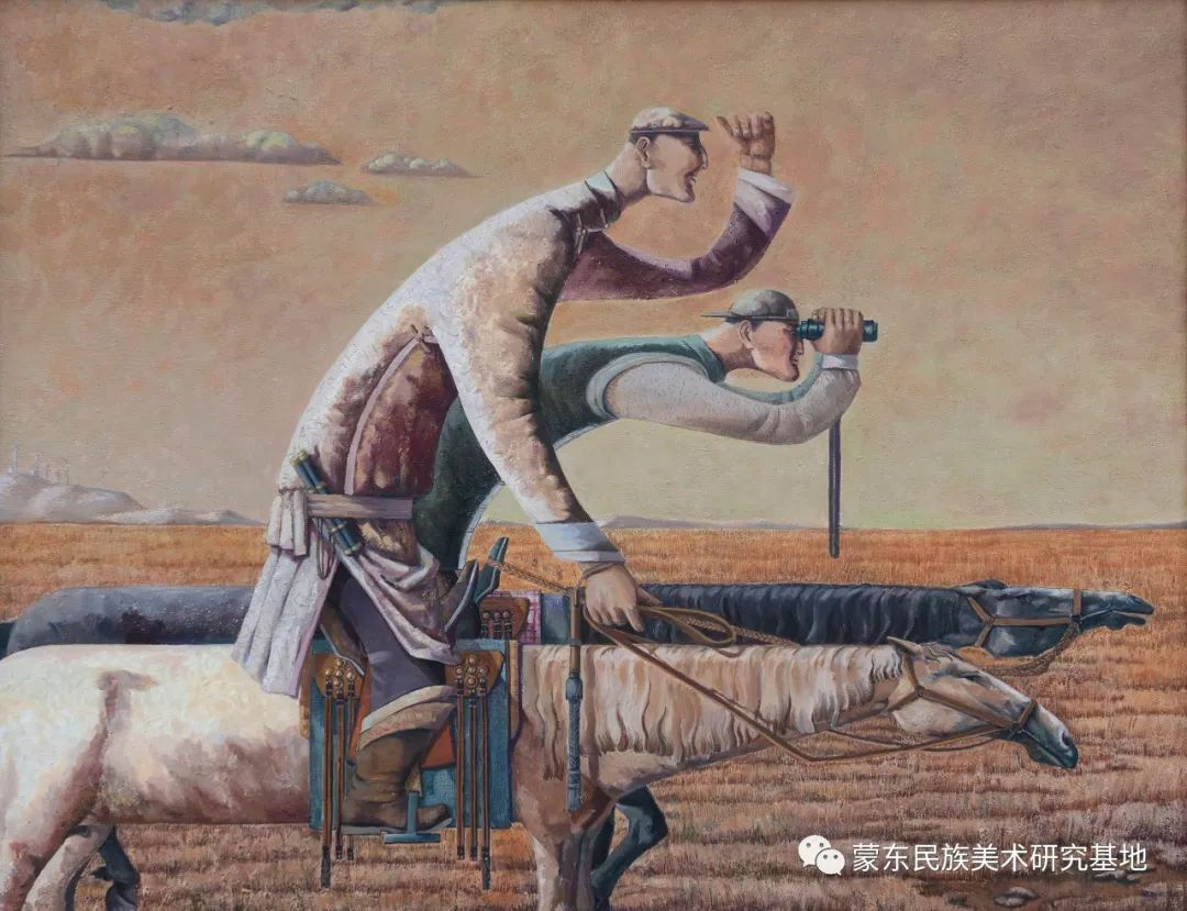 科尔沁首届油画展作品集 第54张 科尔沁首届油画展作品集 蒙古画廊