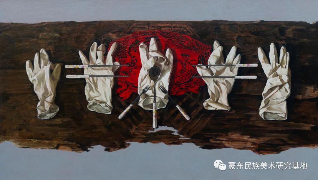 科尔沁首届油画展作品集 第55张 科尔沁首届油画展作品集 蒙古画廊