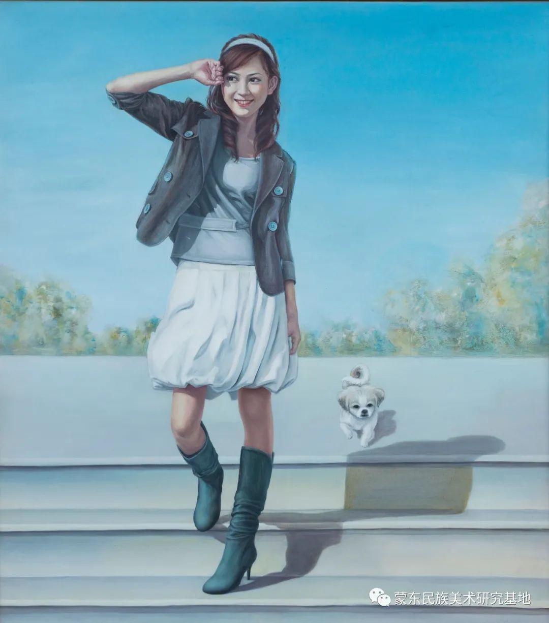 科尔沁首届油画展作品集 第57张 科尔沁首届油画展作品集 蒙古画廊