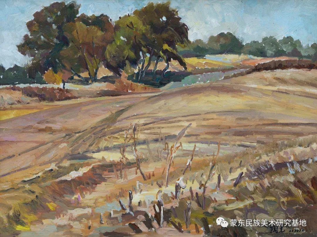 科尔沁首届油画展作品集 第59张 科尔沁首届油画展作品集 蒙古画廊