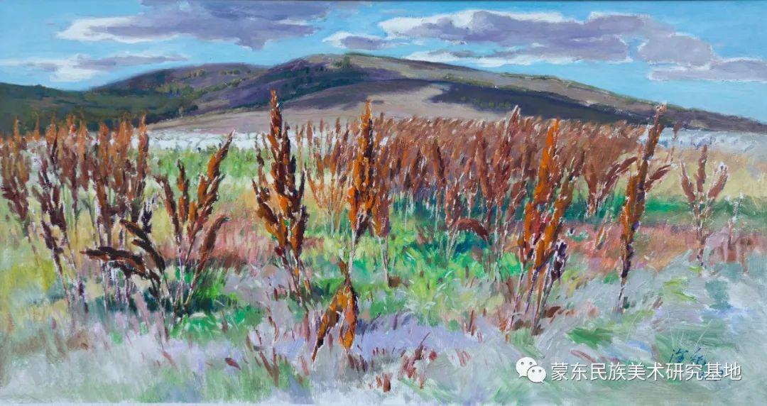 科尔沁首届油画展作品集 第60张 科尔沁首届油画展作品集 蒙古画廊
