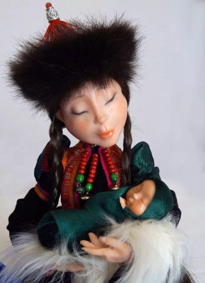 布里亚特美女制作的蒙古布娃娃,太可爱了! 第10张