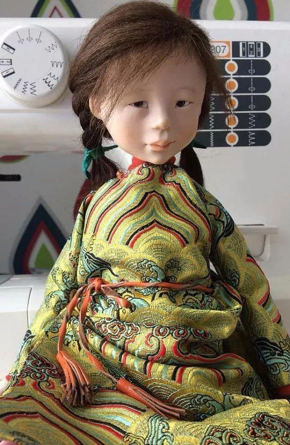 布里亚特美女制作的蒙古布娃娃,太可爱了! 第13张