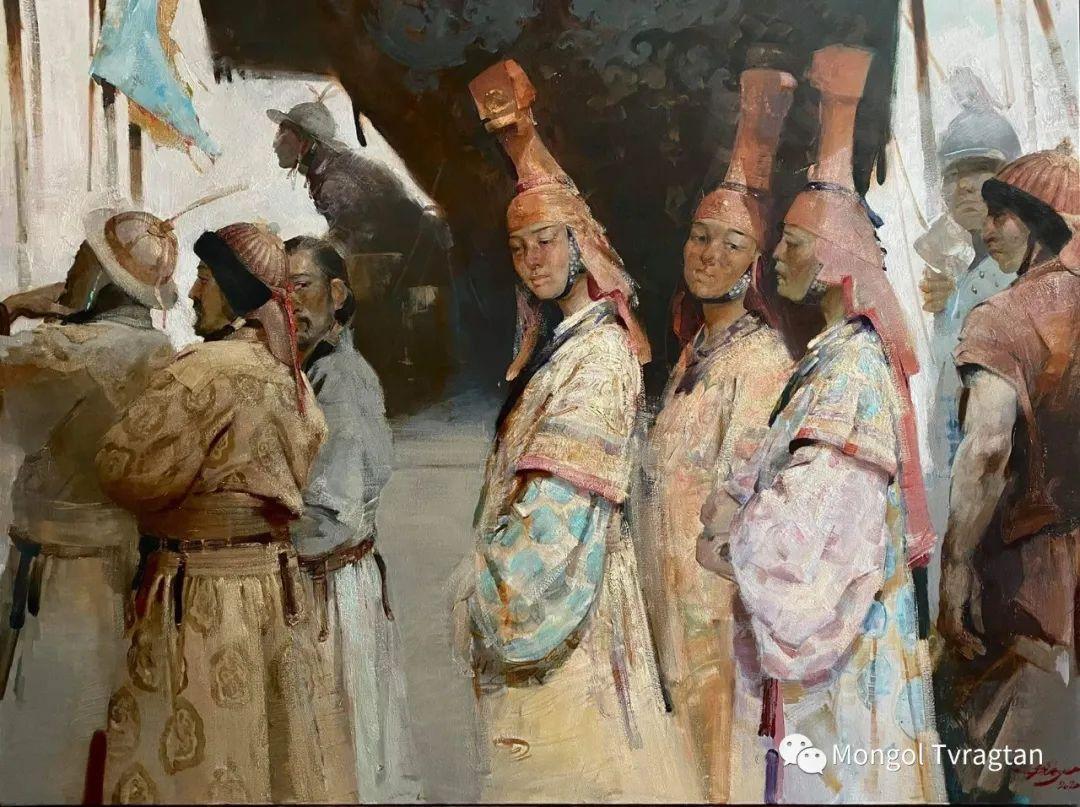 蒙古国油画家-敖特根道部单 第1张