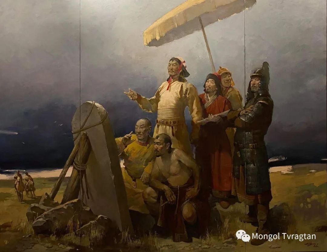 蒙古国油画家-敖特根道部单 第2张