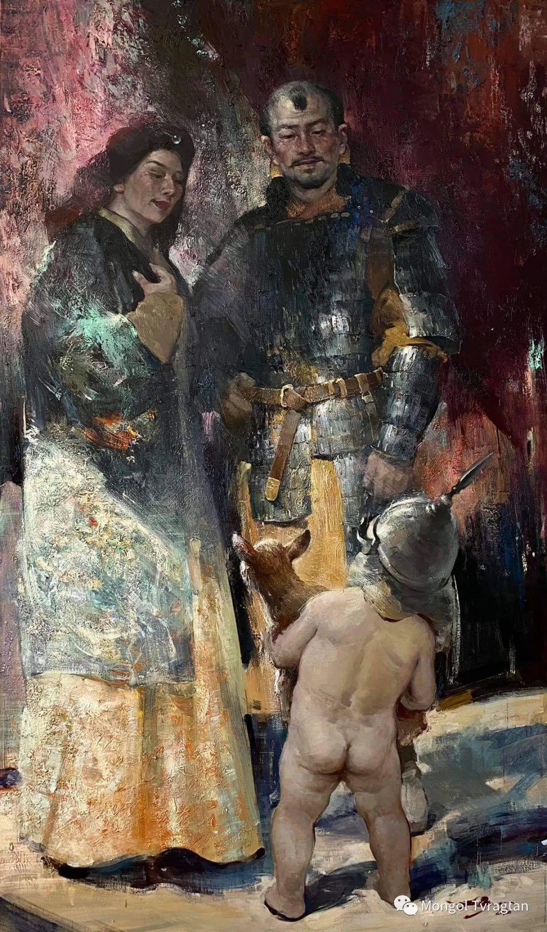蒙古国油画家-敖特根道部单 第3张