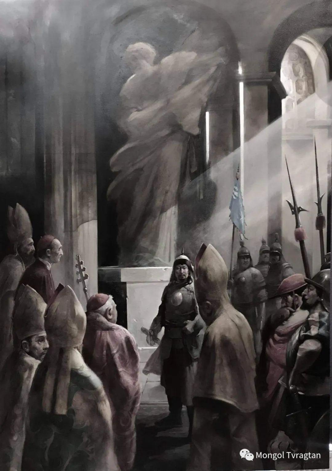蒙古国油画家-敖特根道部单 第4张