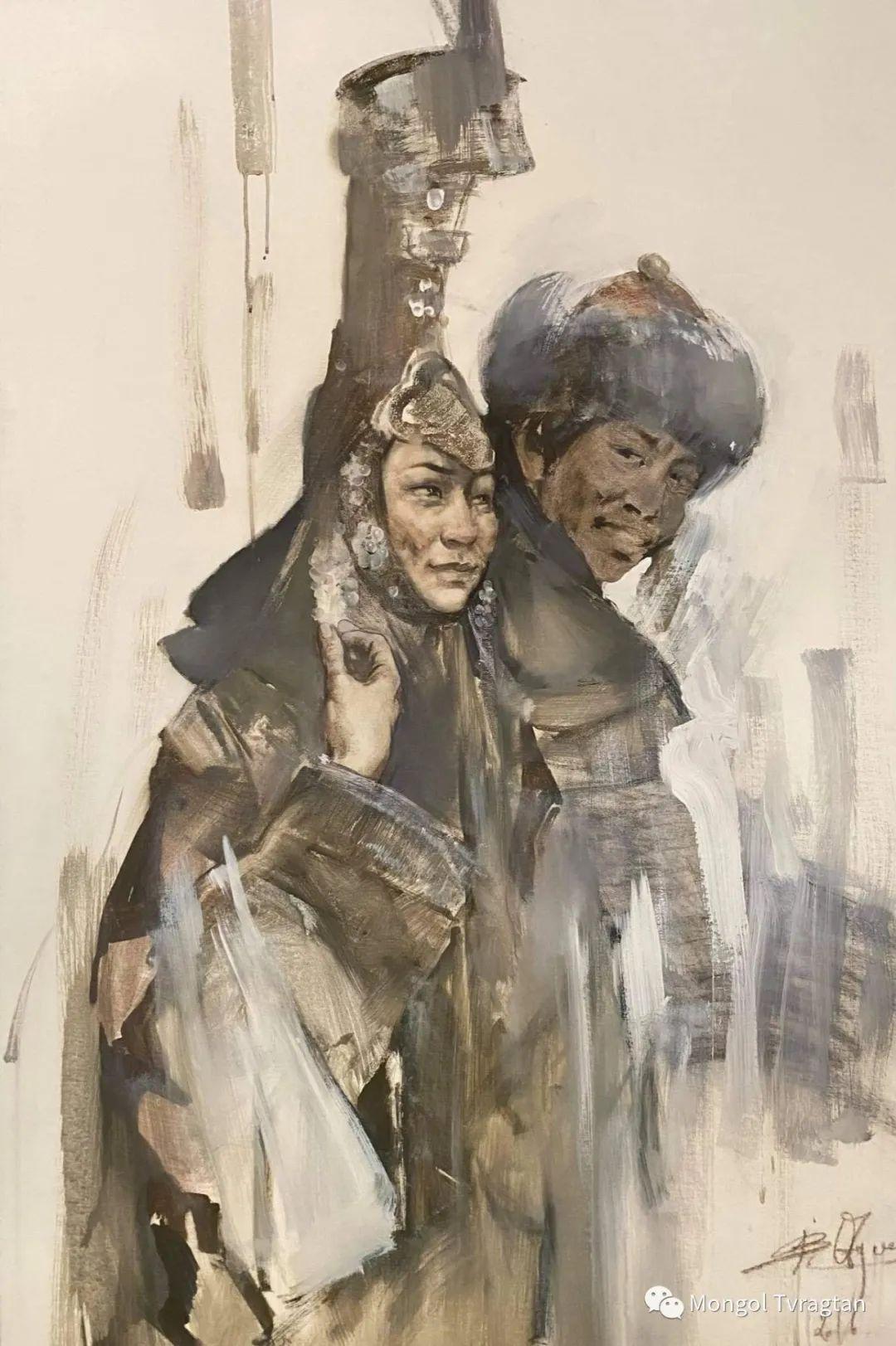 蒙古国油画家-敖特根道部单 第5张