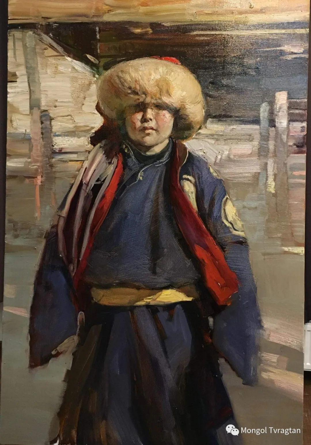 蒙古国油画家-敖特根道部单 第6张