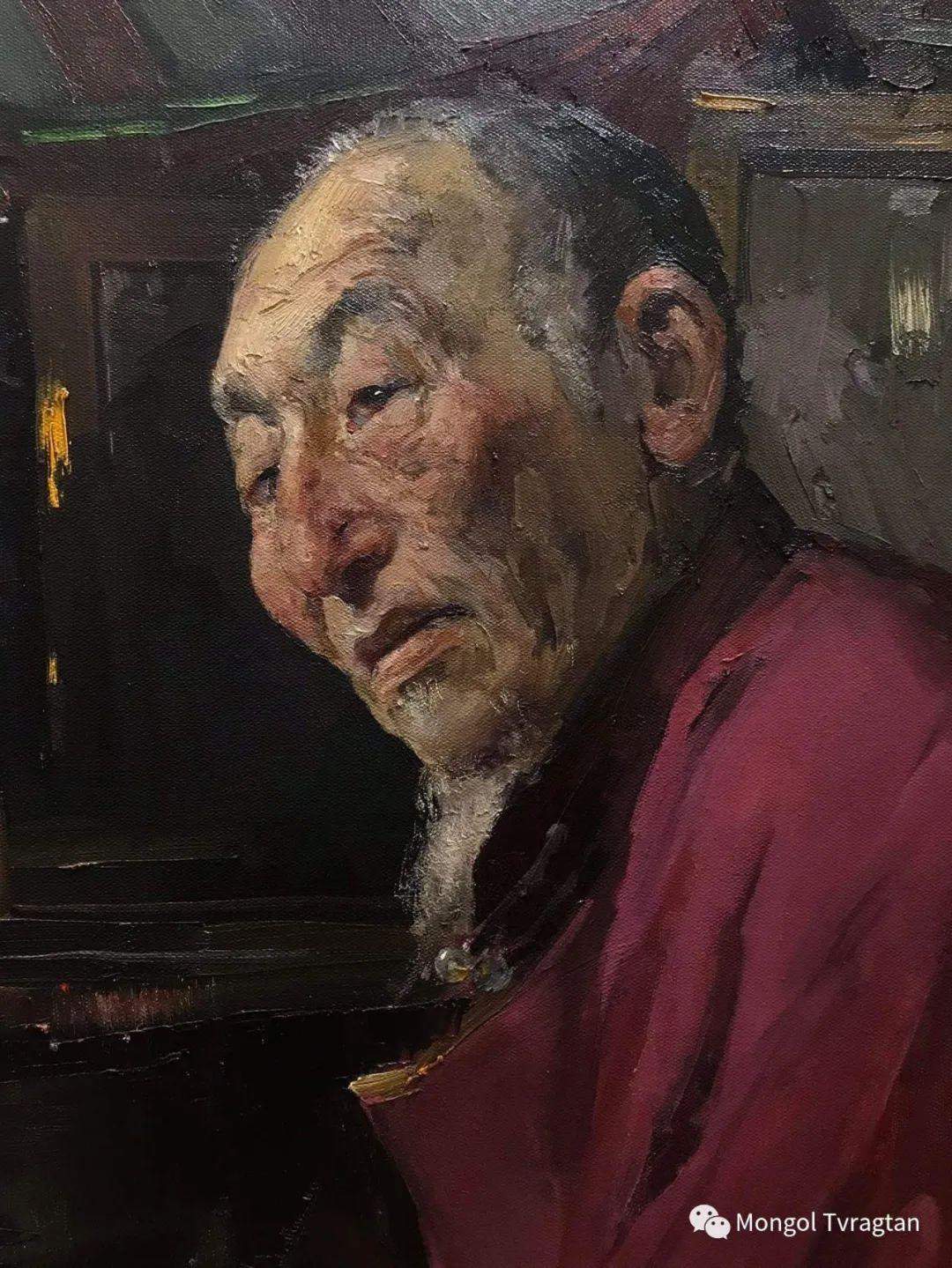 蒙古国油画家-敖特根道部单 第8张