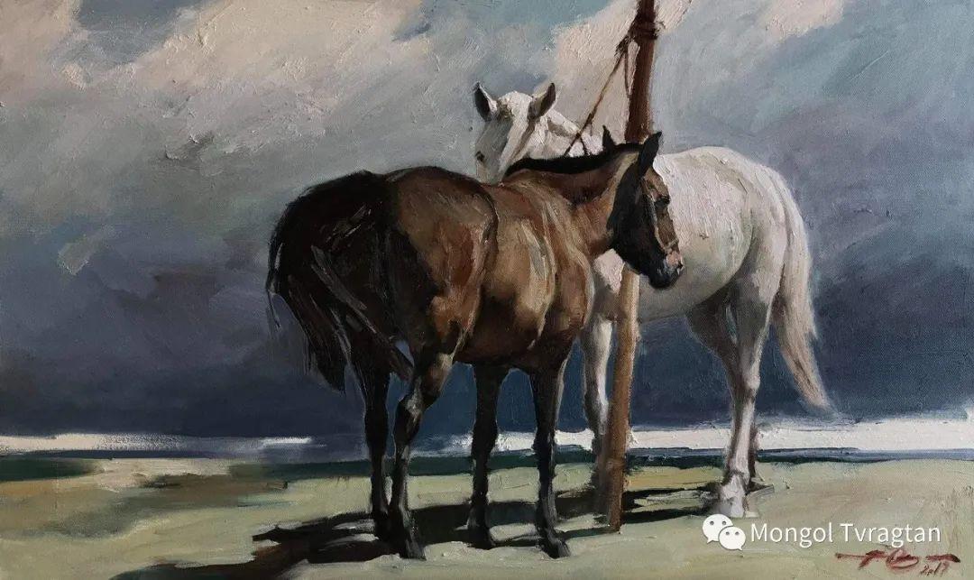 蒙古国油画家-敖特根道部单 第7张