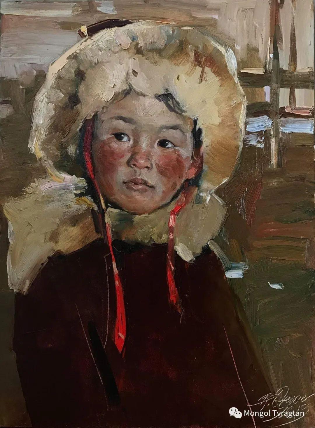 蒙古国油画家-敖特根道部单 第9张