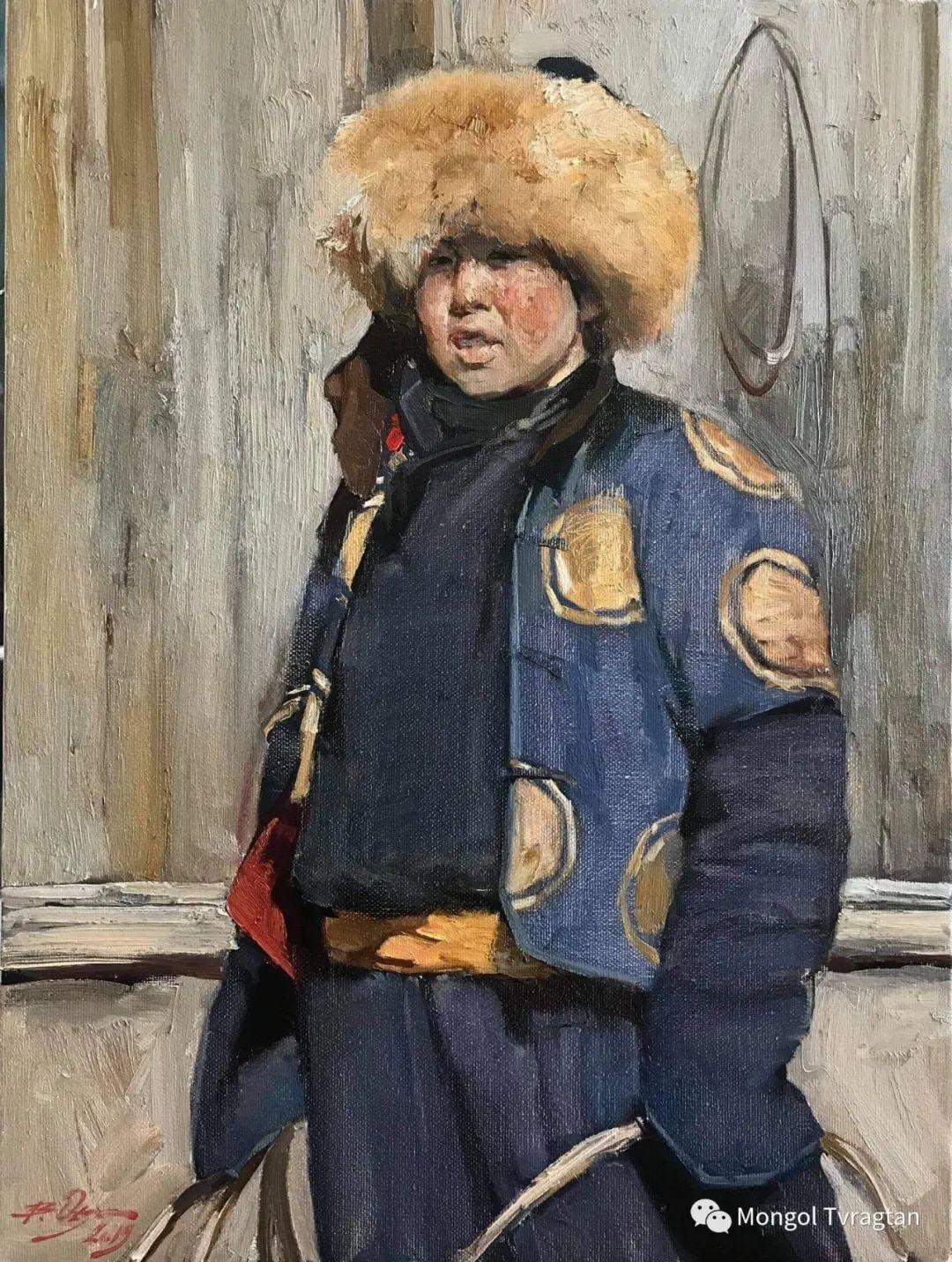 蒙古国油画家-敖特根道部单 第11张