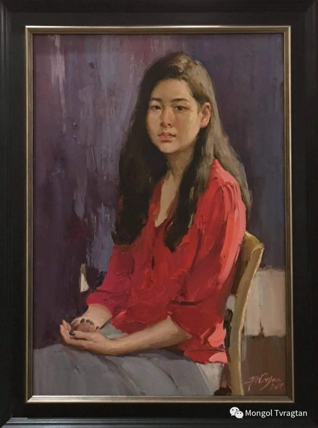 蒙古国油画家-敖特根道部单 第10张