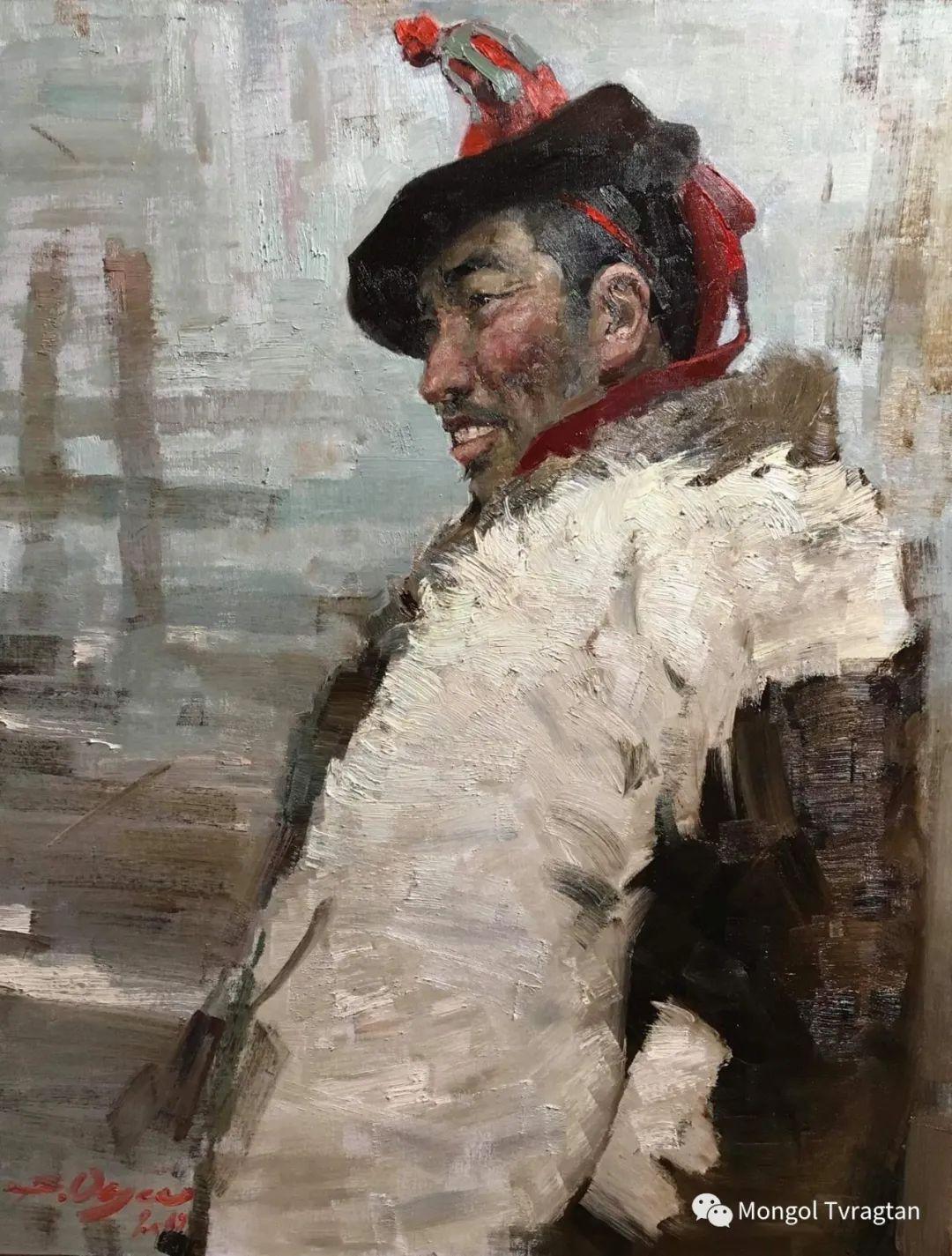 蒙古国油画家-敖特根道部单 第12张