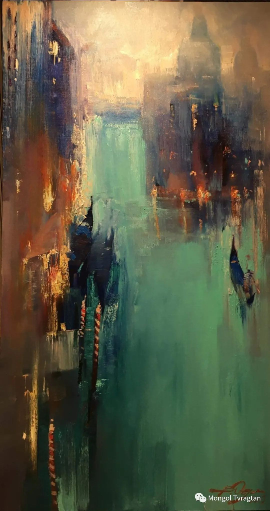 蒙古国油画家-敖特根道部单 第13张