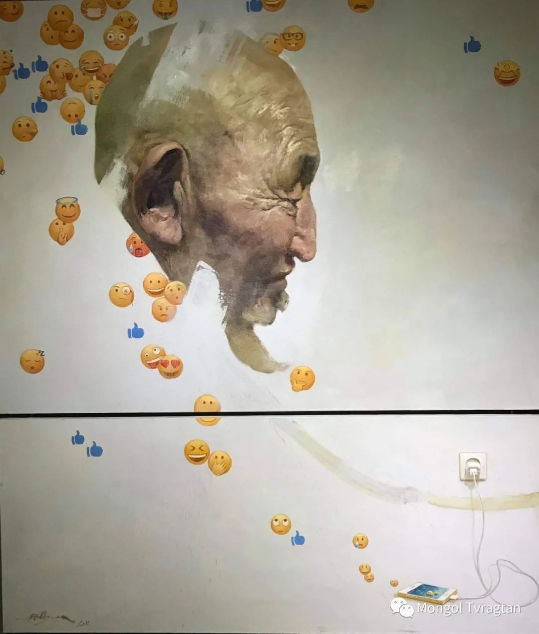 蒙古国油画家-敖特根道部单 第14张