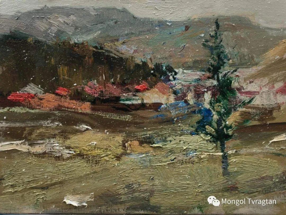 蒙古国油画家-敖特根道部单 第19张