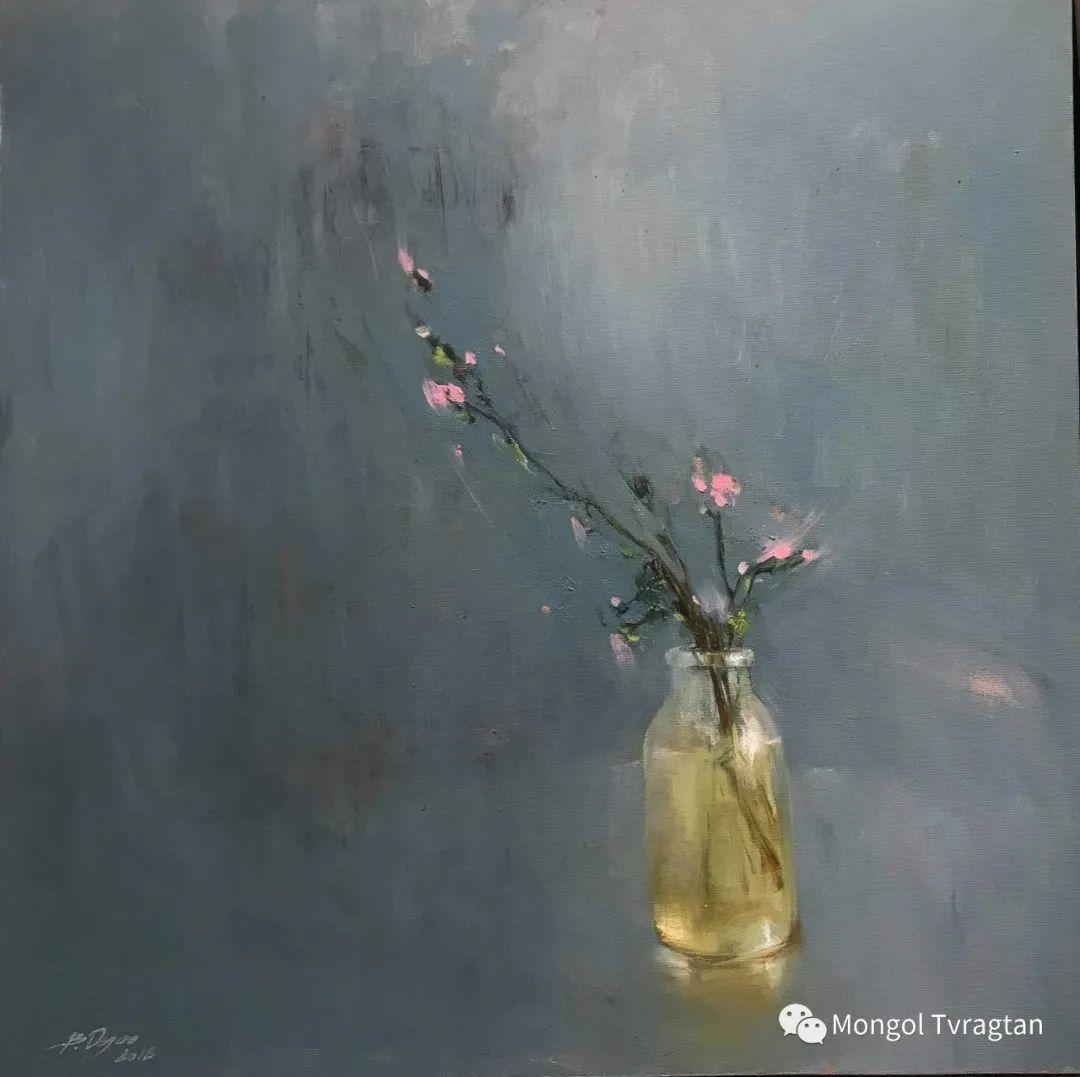 蒙古国油画家-敖特根道部单 第23张