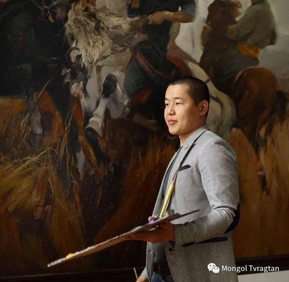 蒙古国油画家-敖特根道部单 第24张