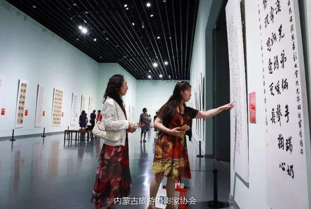 庆祝改革开放40周年 内蒙古美术、书法、摄影作品展开幕 第11张