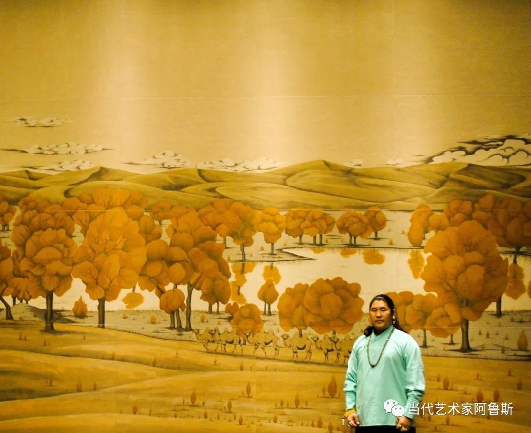 世界文化艺术研究中心非物质文化遗产保护专业委员会会员阿拉塔毕力格艺术作品展 第14张