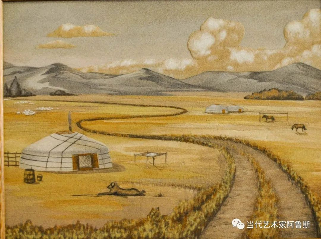 世界文化艺术研究中心非物质文化遗产保护专业委员会会员阿拉塔毕力格艺术作品展 第16张