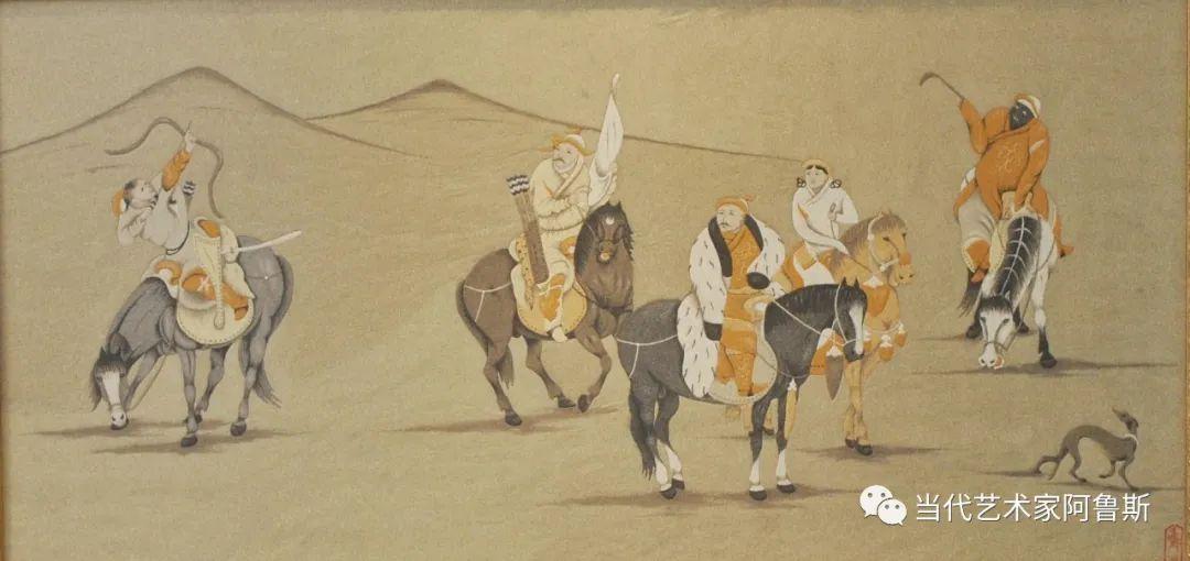 世界文化艺术研究中心非物质文化遗产保护专业委员会会员阿拉塔毕力格艺术作品展 第23张
