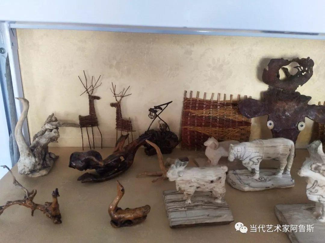 锡林郭勒草原民间艺人阿拉腾敖都的根雕艺术作品欣赏 第16张