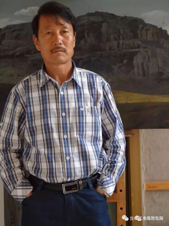 《艺术世界本期专访》著名蒙古族画家德钦作品展 第1张
