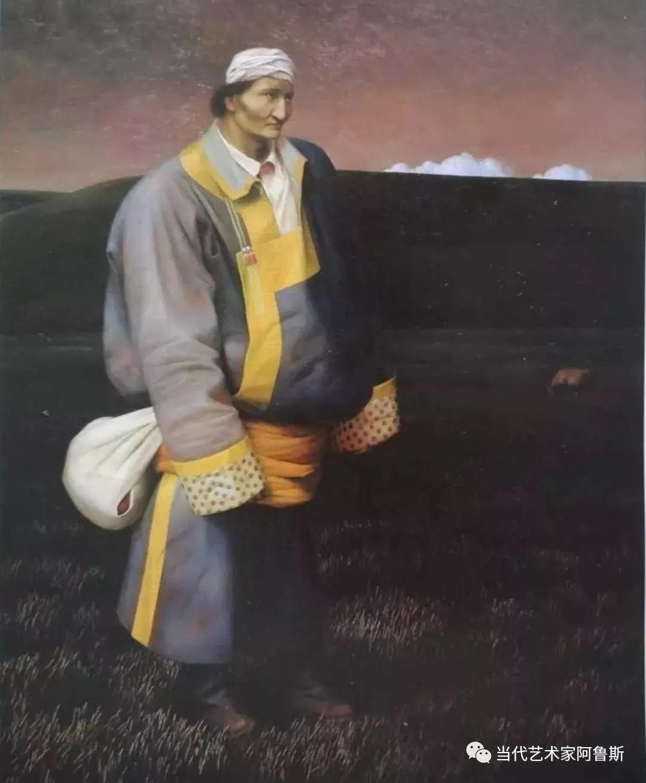 《艺术世界本期专访》著名蒙古族画家德钦作品展 第3张