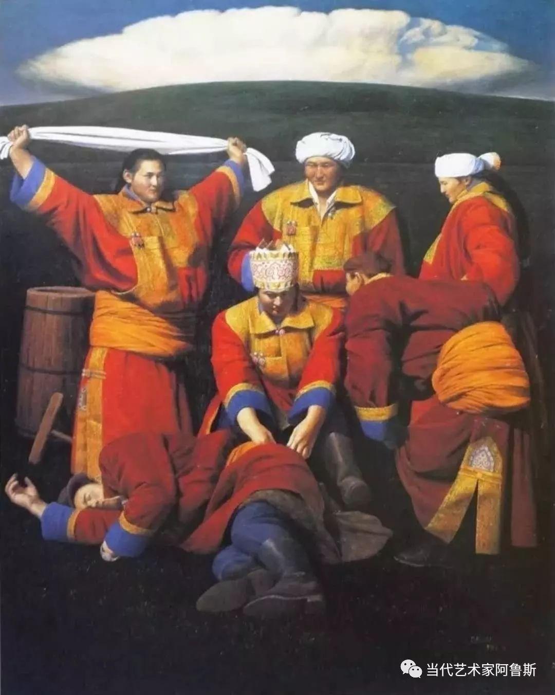 《艺术世界本期专访》著名蒙古族画家德钦作品展 第6张
