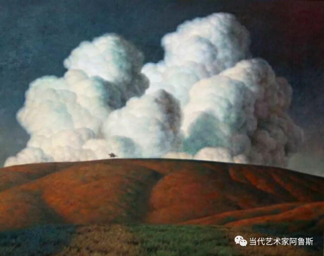 《艺术世界本期专访》著名蒙古族画家德钦作品展 第8张
