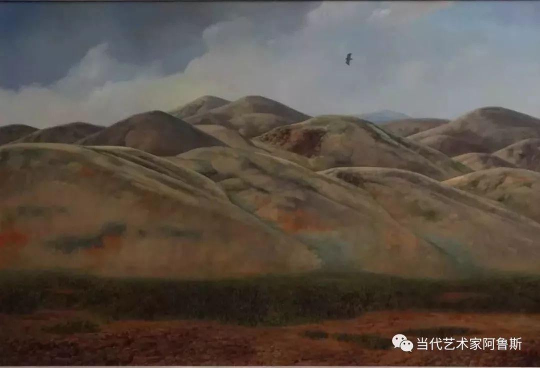 《艺术世界本期专访》著名蒙古族画家德钦作品展 第13张