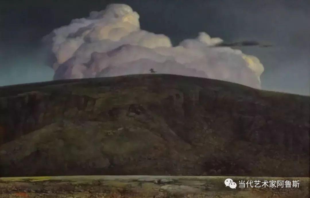 《艺术世界本期专访》著名蒙古族画家德钦作品展 第14张