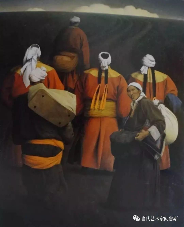 《艺术世界本期专访》著名蒙古族画家德钦作品展 第15张