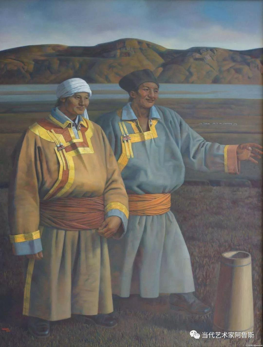 《艺术世界本期专访》著名蒙古族画家德钦作品展 第20张