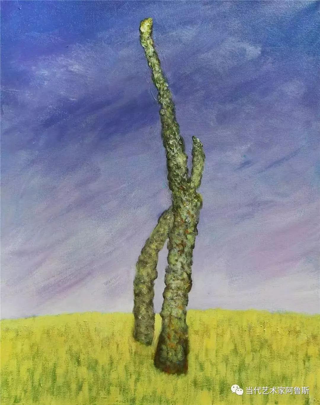 《艺术世界本期专访》蒙古族著名画家莫尼作品展 第8张