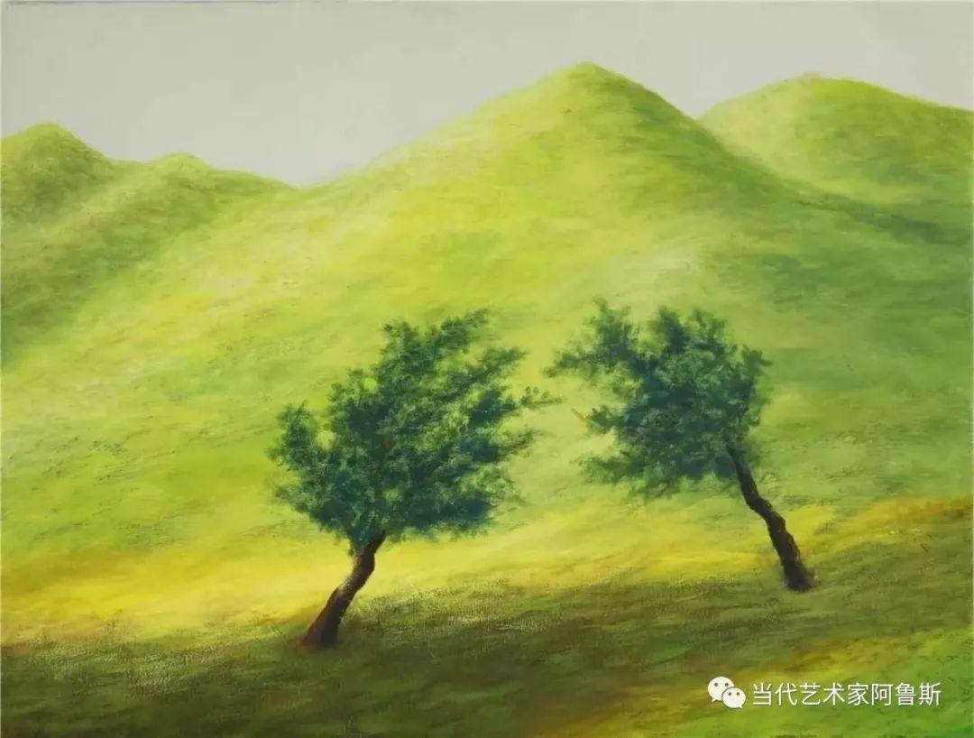 《艺术世界本期专访》蒙古族著名画家莫尼作品展 第9张