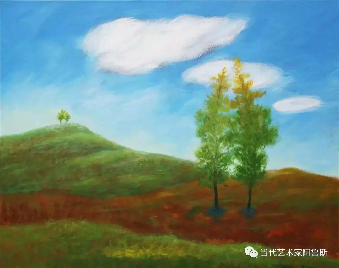 《艺术世界本期专访》蒙古族著名画家莫尼作品展 第10张