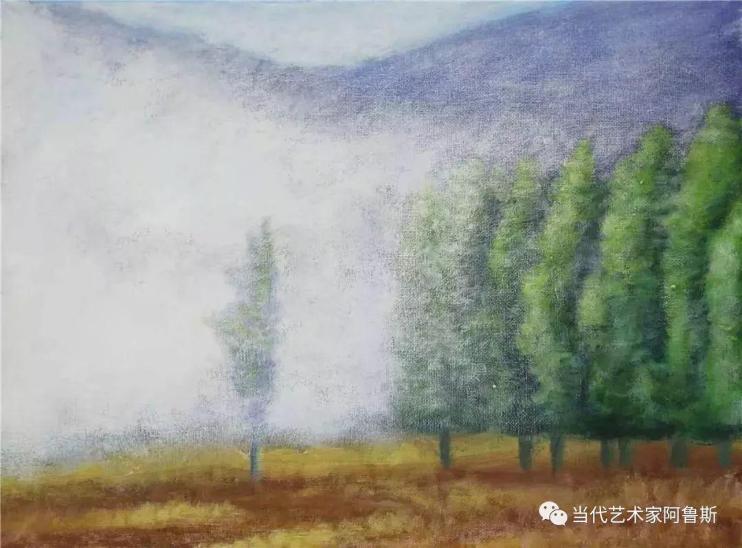 《艺术世界本期专访》蒙古族著名画家莫尼作品展 第11张