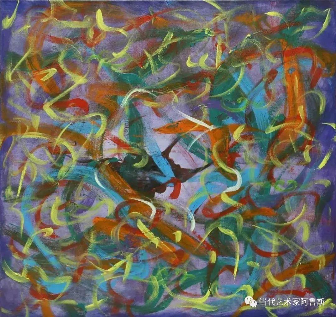 《艺术世界本期专访》蒙古族著名画家莫尼作品展 第19张