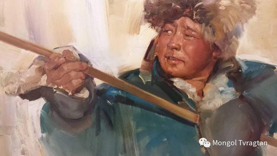 蒙古国画家-勒 巴雅尔琪琪格作品 第2张