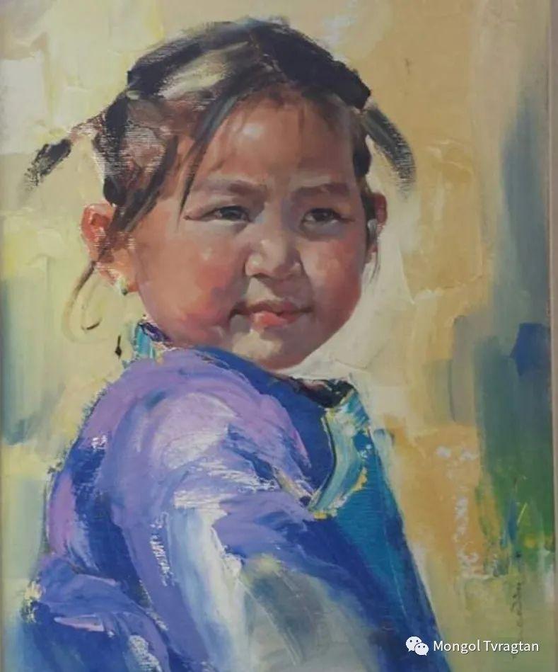 蒙古国画家-勒 巴雅尔琪琪格作品 第4张